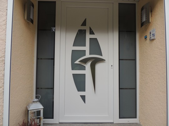 Portes décoratives vitrées